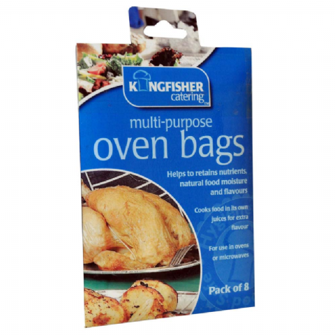 Oven Bags 25cm x 38cm Roasting Cooking Multi-Purpose Kingfisher Catering (Pack of 8)